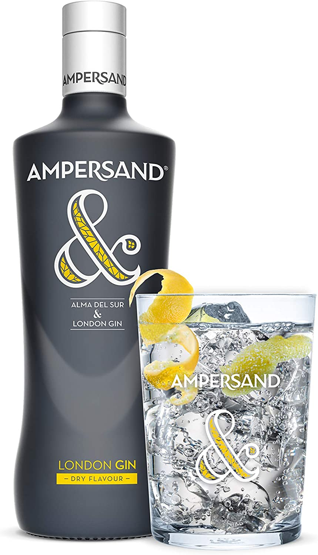 Ginebra premium Ampersand London Dry Gin - 1 botella de 70 cl