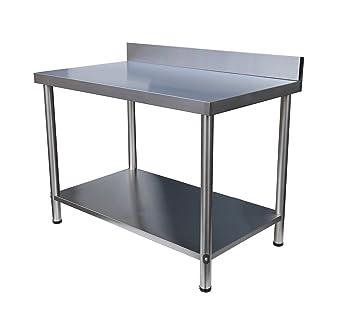 Acero inoxidable mesa de trabajo Gastro - Mesa de cocina de acero ...