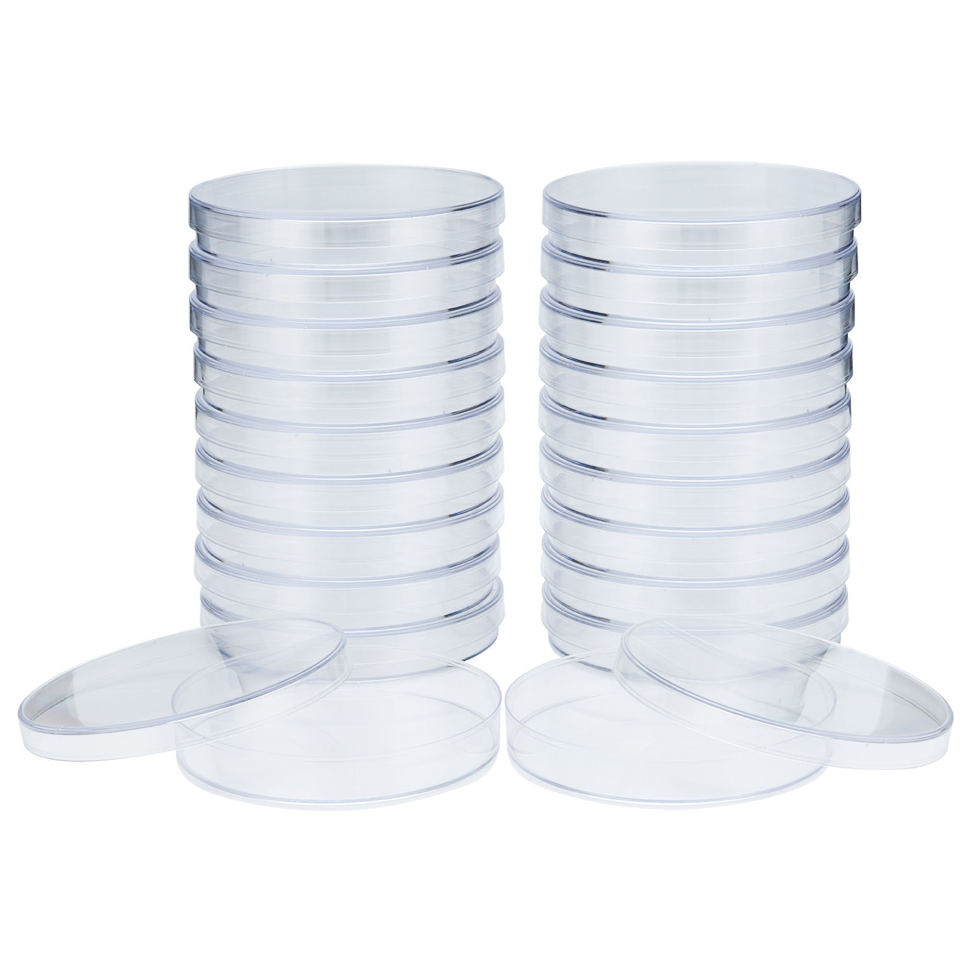 Petri Dishes (92.5mm x 15mm) EO Sterile, Vented, Made with Professional Grade Polystyrene - 2 Sets x 10 (20 Count) by Mile High Online by MHO Containers