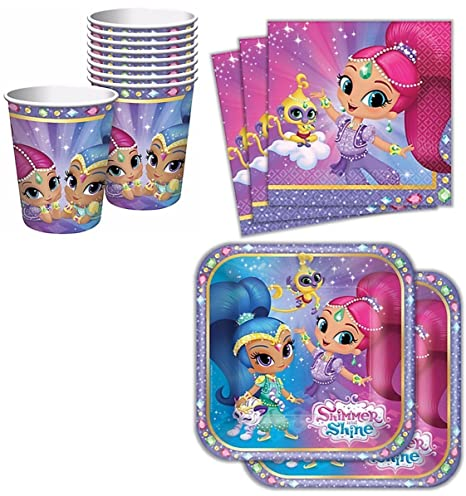 Image Unavailable Not Available For Color Amscan Tableware Kit 16 Shimmer And Shine Birthday Party Supplies