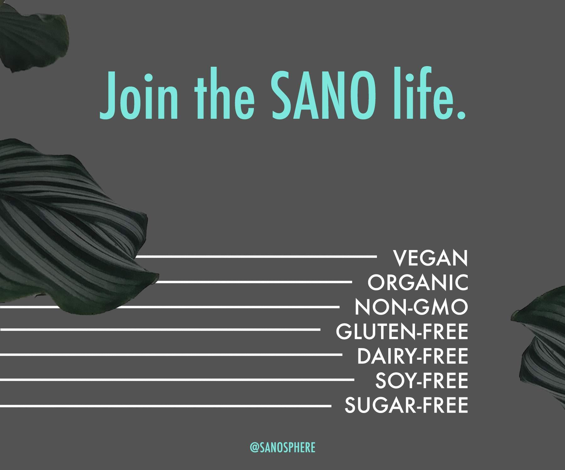 SANO Organic Plant Based Protein Powder, Vanilla (28 Single Servings), Vegan, Organic, Non GMO, Gluten Free, Dairy Free, Sugar Free (Packaging May Vary)