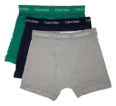 49570f36612 Calvin Klein Men s Cotton Stretch 3 Pack Boxer Briefs at Amazon Men s  Clothing store