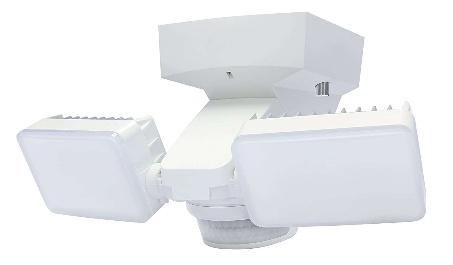 Twin LED Lights with 1425 Lumens 180 Motion Sensor White