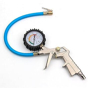 BoRui Calibrador de neumáticos, Air Tire Inflador Manómetro Manguera Compresor de herramientas con pistola Grip Para Chuck Cars Trucks: Amazon.es: Coche y ...