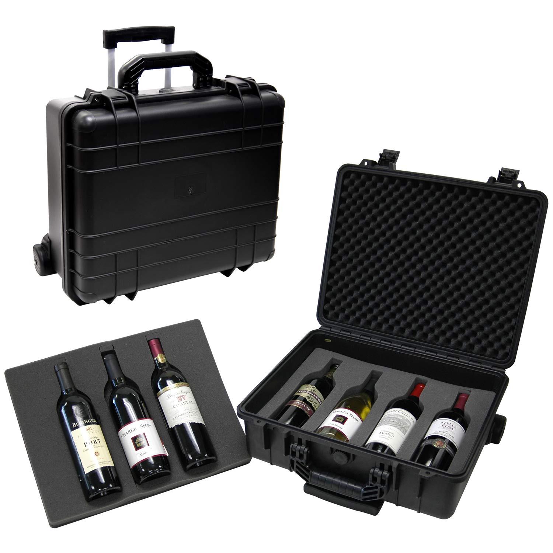 T.Z. Case International T.z 7-Bottle Wheeled Wine Case, Molded Polypropylene, Black by T.Z. Case International