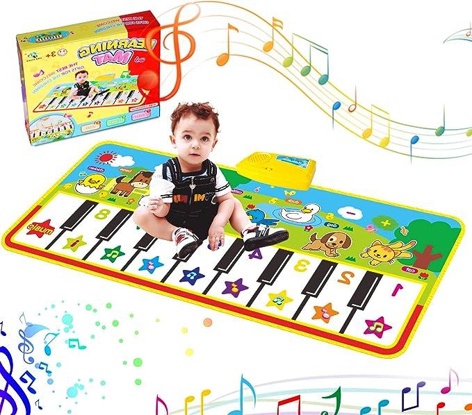 Alfombra de Piano, Alfombra Teclado Musical de Teclado Estera de Alfombra de Baile Táctil Alfombra Piano de Suelo Portátil Electrónico Educativo ...