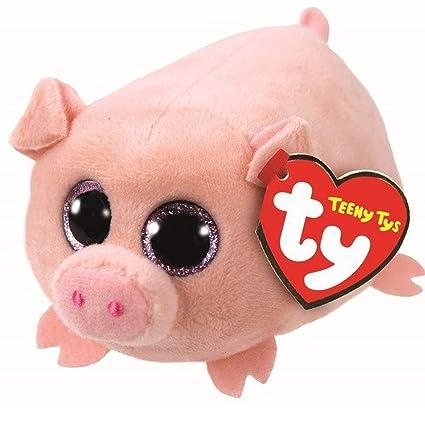 Amazon Com Jewh Ty Beanie Boo Teeny Plush White Owl Pig Monkey