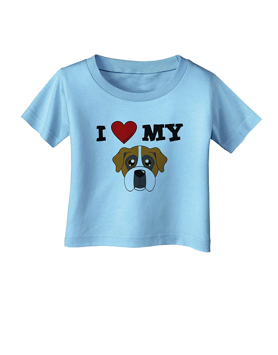 Cute Boxer Dog Infant T-Shirt TooLoud I Heart My