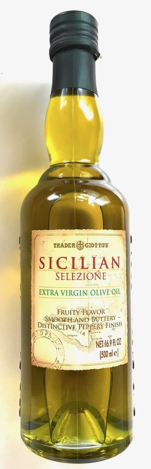 Trader Joes Giottos Sicilian Selezione Extra Virgin Olive Oil (16.9 oz.) by Trader Joes [Foods]