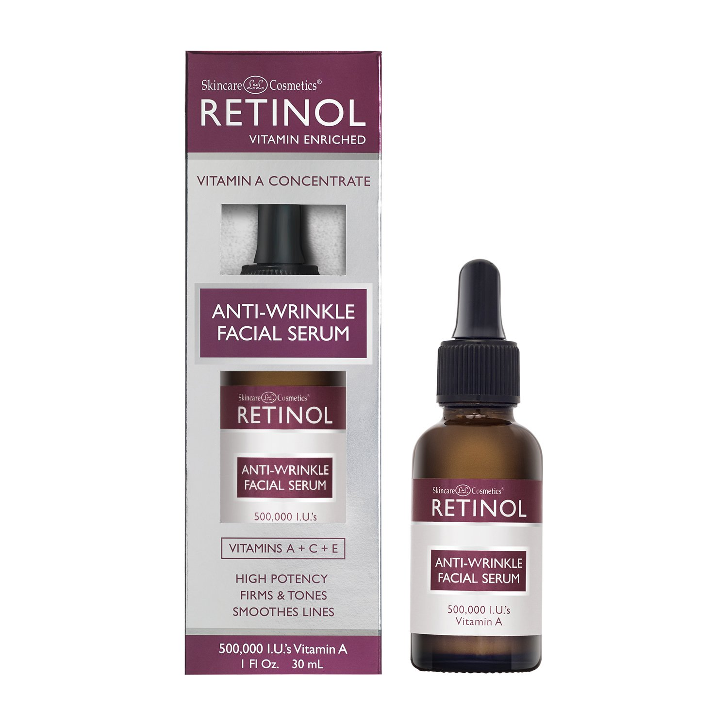 Skincare LdeL Cosmetics, Retinol Enriched Anti-Wrinkle Facial Serum, 1-Ounce Bottle 56511-000