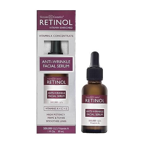 Suero Facial Antiarrugas de Retinol – Con Concentrado de Vitamina A que Mejora la Elasticidad y