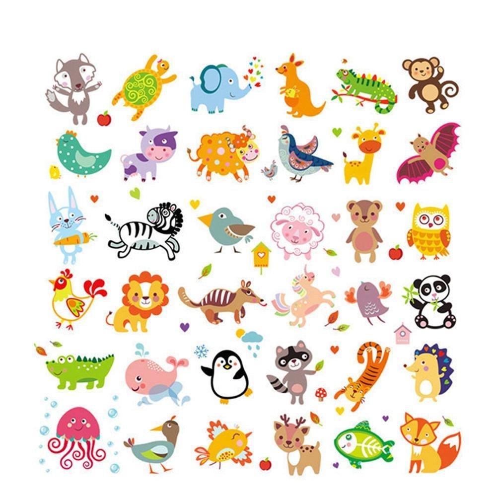 Parche lavable de 36 piezas, diseño de animales de la selva con ...