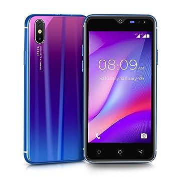 Móviles y Smartphones Libres, Unlocked 3G Teléfono Móvil Libre y sin Bloqueo de SIM, 5.0 Pulgadas con Pantalla HD Procesador (5.0MP HD Cámara,Dual ...