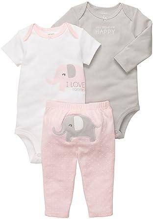 b6ea06cd116 Carter s Baby Girls  3 Pc Turn Me Around Set - Pink Elephant - 24 Months