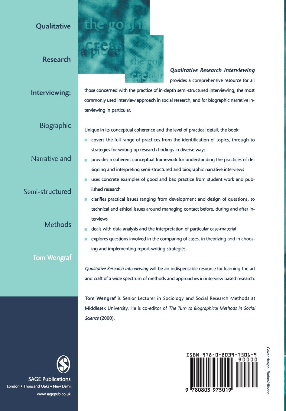 qualitative research interviewing biographic narrative and semi qualitative research interviewing biographic narrative and semi structured methods amazon co uk tom wengraf 9780803975019 books
