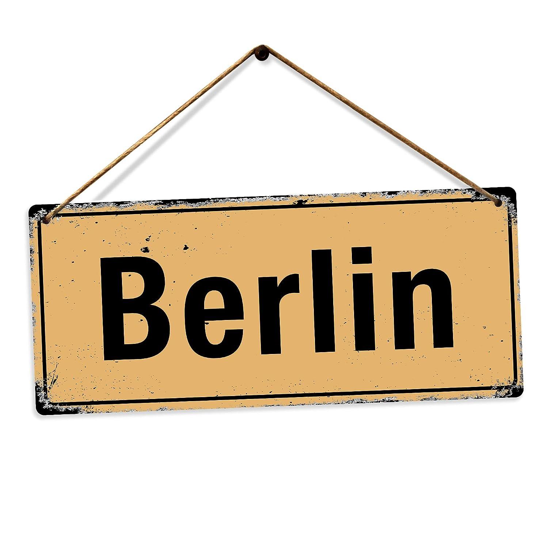 Berlin Toasted Merch Collection of WW2 Road Street Place Panneau Mural en m/étal imprim/é Sticky Pads