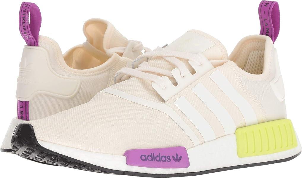brand new fa239 44bd6 Amazon.com   adidas Originals NMD R1 Shoe Men s Casual 7 Chalk White-Semi  Solar Yellow   Fashion Sneakers