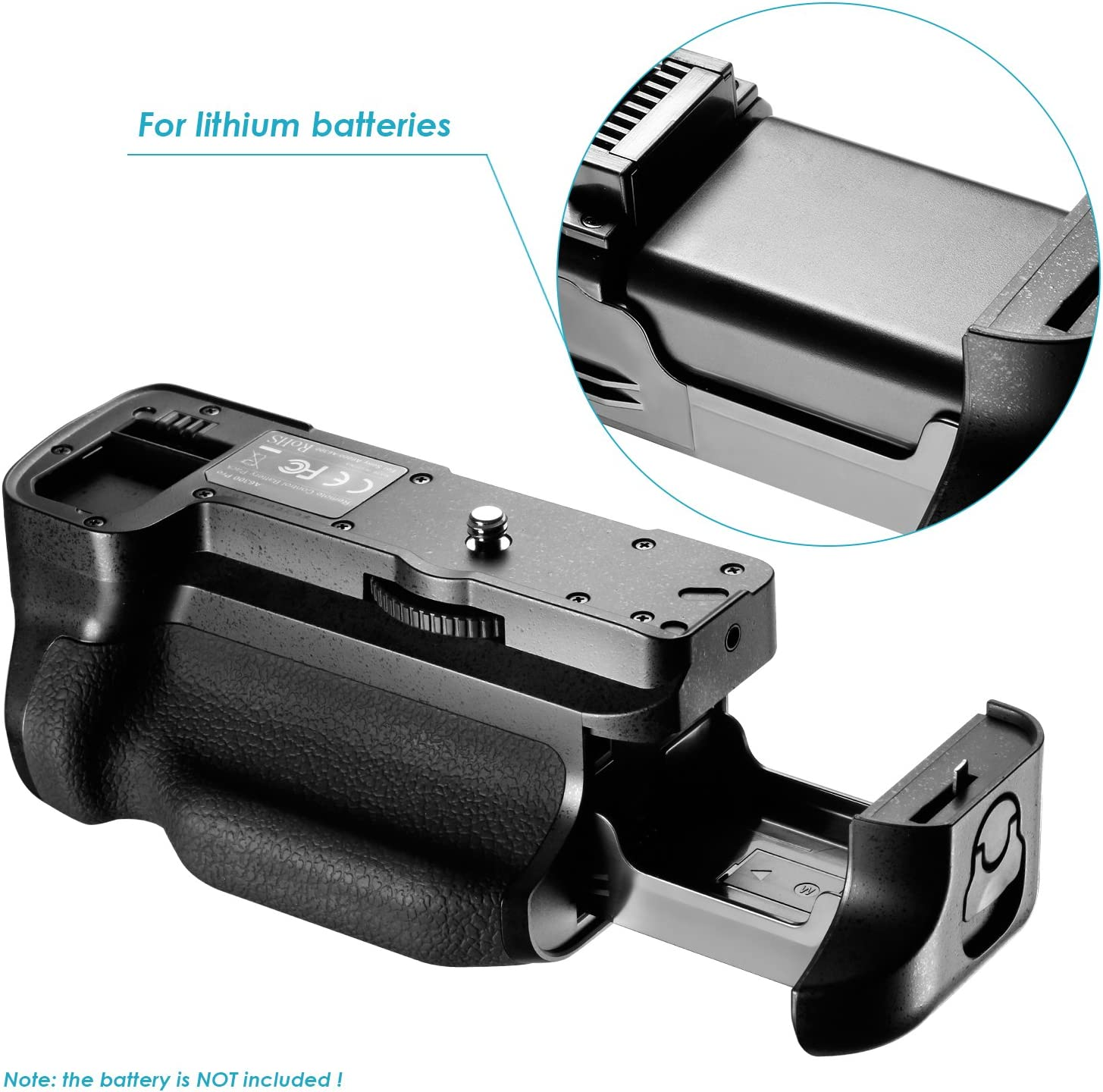 2 Pieces 1100mAh Replacement Li-ion Battery for Sony FW50 and USB Input 5V//2.1A Dual Charger Neewer Battery Grip Kit with Built-in 2.4GHz Remote Control for Sony A6300 Camera