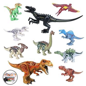 2Pcs Large Dinosaurs Figure Jurassic World INDORAPTOR Building Blocks Toy Gifts