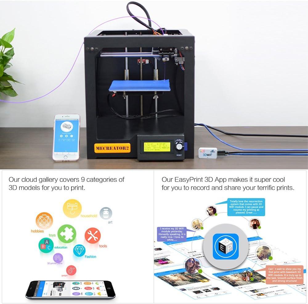 Amazon.com: aibecy Geeetech 3d módulo WiFi impresora 3d ...