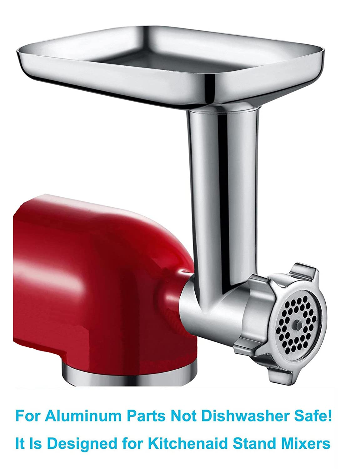 Amazon.com: Food Meat Grinder Attachment Compatible with KitchenAid Stand  Mixers Included 2 Sausage Stuffers -Useful Mixer Accessory as Food  Processor: ...
