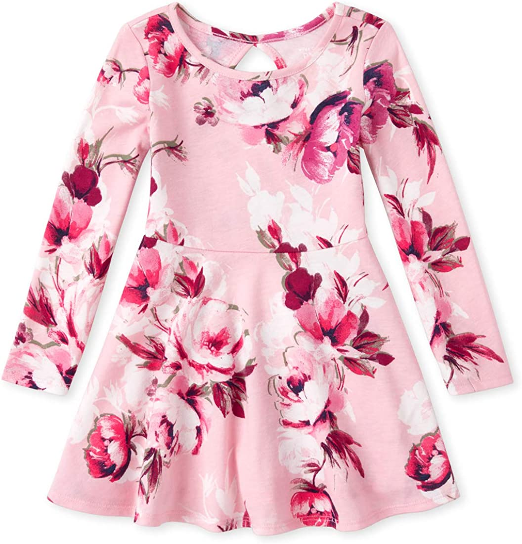 The Childrens Place Baby Girls Long Sleeve Pleated Dress