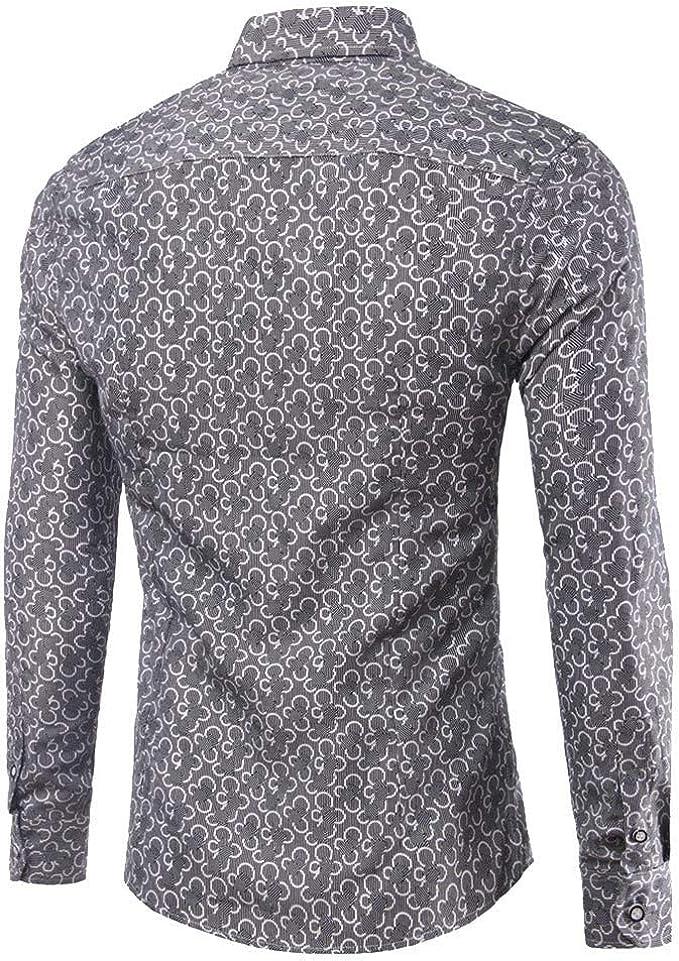 Sencillo Vida Camisa Manga Larga de Hombre Slim Fit Camisas de Hombre de Vestir Casual Formales Camisa Hombres Clásico Cuello de Solapa con Botones Camiseta Básica para Hombre Shirts: Amazon.es: Ropa y