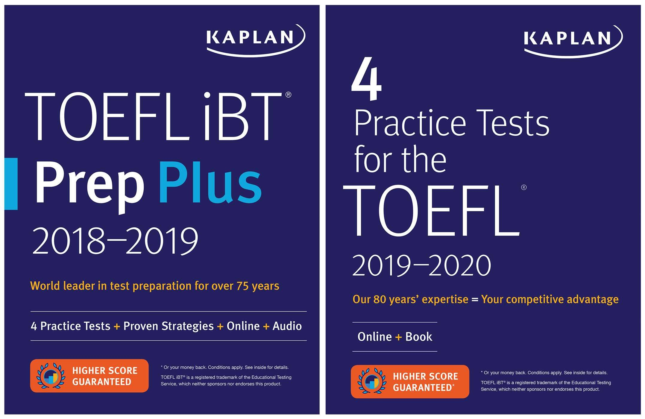 TOEFL Prep Set  2 Books + Online  Kaplan Test Prep
