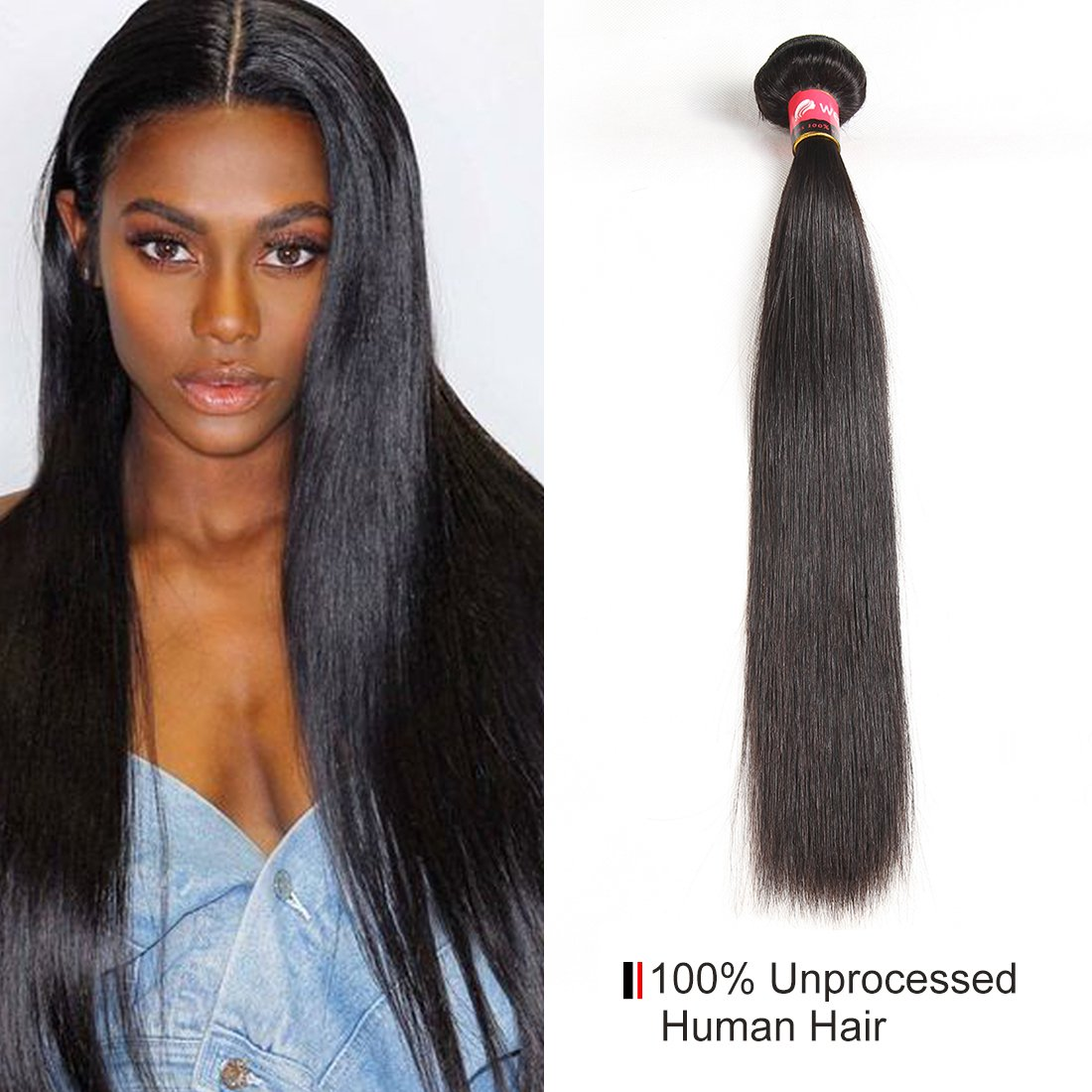 Amazon West Kiss Hair Brazilian Straight Virgin Human Hair