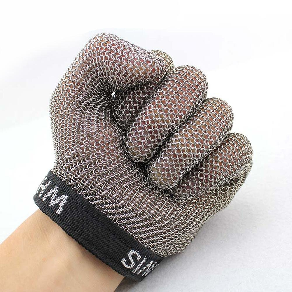 Stainless steel ring cutting gloves protective gloves slaughterhouse metal wire tapping supplies / only , m by LIXIANG (Image #4)
