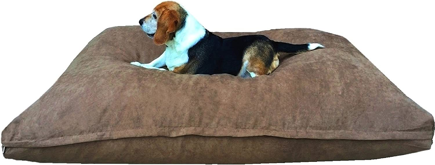 dogbed4less Orthopedic Memory Foam Dog Bed Pillow for Small to Medium Large Dogs with Waterproof Liner and Machine Washable External Cover