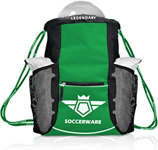 Soccer Bag Backpack - Youth & Kids, Organize Sports Gym Equipment - Boys Girls
