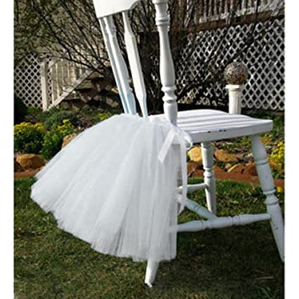 Amazon Tulle Tutu Table Chair Skirt For Wedding Birthday Party