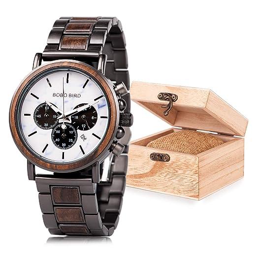 Amazon.com: Reloj de pulsera analógico de cuarzo para hombre ...