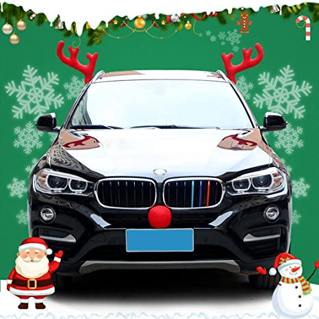 Christmas Car Decorations.Amazon Com Funpa Christmas Car Decorations Creative Car