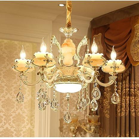 de Cristal Lámpara lujo Vela Nclon europeo techo Estilo De 6y7fYbg