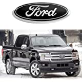 For Ford Emblem,Black 9 INCH Grille Emblem Front Tailgate Badge Replacement Plate Emblems for F-150 2004 to 2014, F-250…
