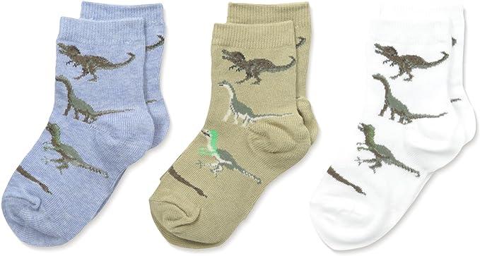 Childrens 3 Pack of Dinosaur Socks