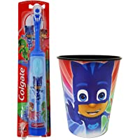 PJ Masks Catboy Toothbrush Dental Kit: 2 Items - Powered Toothbrush, Kid's Character Rinse Cup