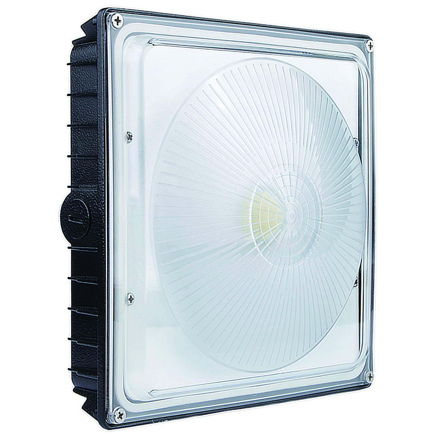 LED Canopy Light - Speclux 70W (350W Hps/HID Equivalent) 5000k Daylight White, 8000 Lumens, UL Listed and DLC Qualified, Commercial Lighting for Gas Station, Parking Garage, AC100-277V