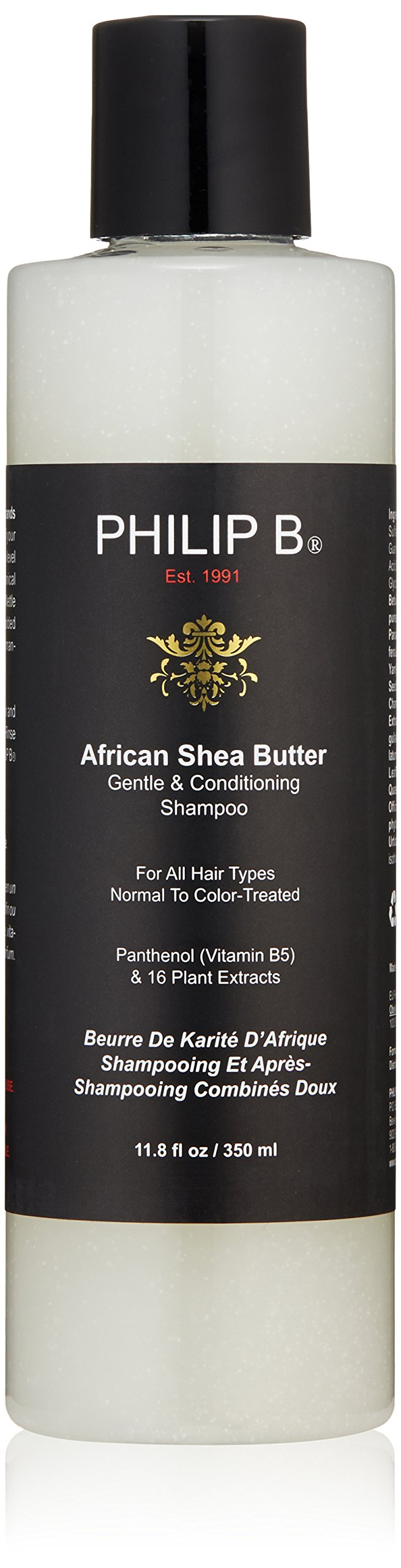 PHILIP B Gentle and Conditioning Shampoo, African Shea Butter, 11.8 fl. oz.