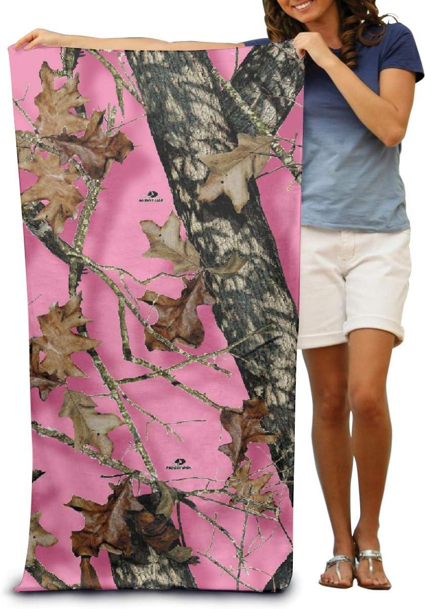 YLJIA Microfiber Beach Towel Wrap Mossy Oak Pink Camo Lightweight Absorbent Quick-Drying SPA Towels Swimsuit Bath and Shower Towel Beach Blanket for Women/& Men,Girls/&Boys