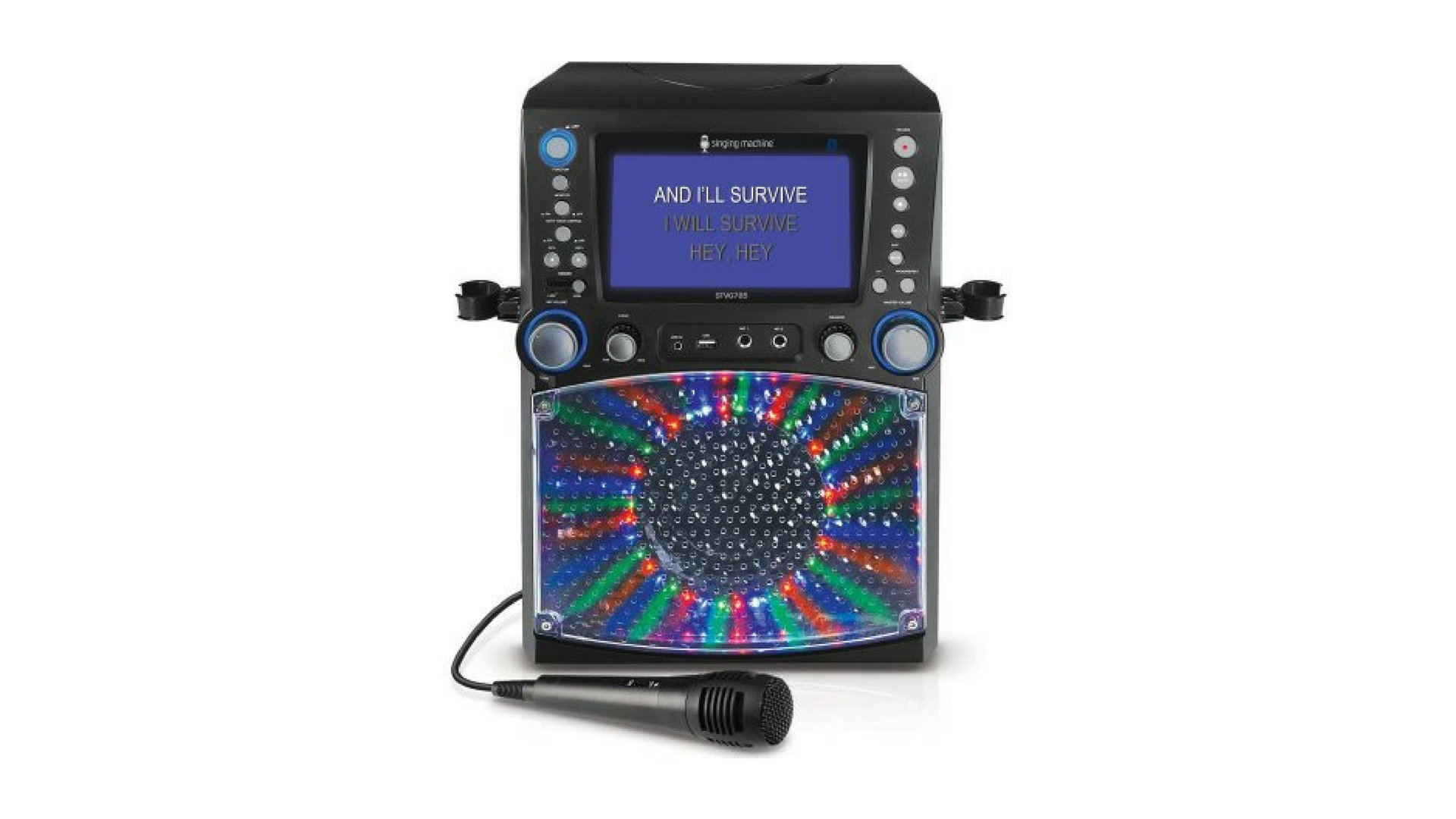 Singing Machine Bluetooth Karaoke System with 7'' Color Monitor and Microphone