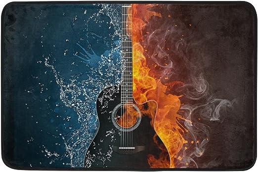 COOSUN Guitarra eléctrica del Fuego y del Agua Fondo Felpudo ...