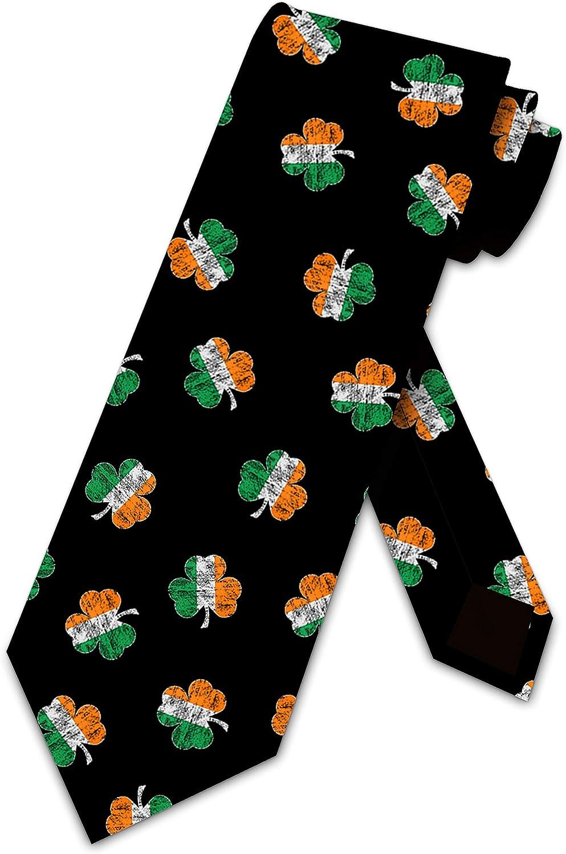 Patricks Day Ties Mens Irish Clover Necktie by Three Rooker St