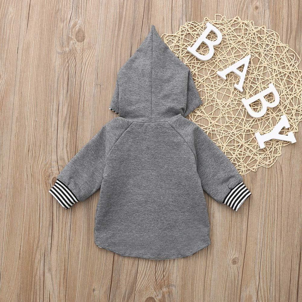 Strickjacken,Transwen Neugeborenes Baby Boy Girl Striped Sweatshirt Hoodie Cardigan Mantel Kleidung Gestrickte Pullover Outfit Oberteile Kinderjacke