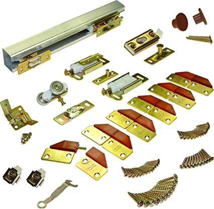 L.E Johnson 100FD484 4-Panel Hardware Set 48u0026quot; - 4 Door System  sc 1 st  Amazon.com & L.E Johnson 100FD484 4-Panel Hardware Set 48