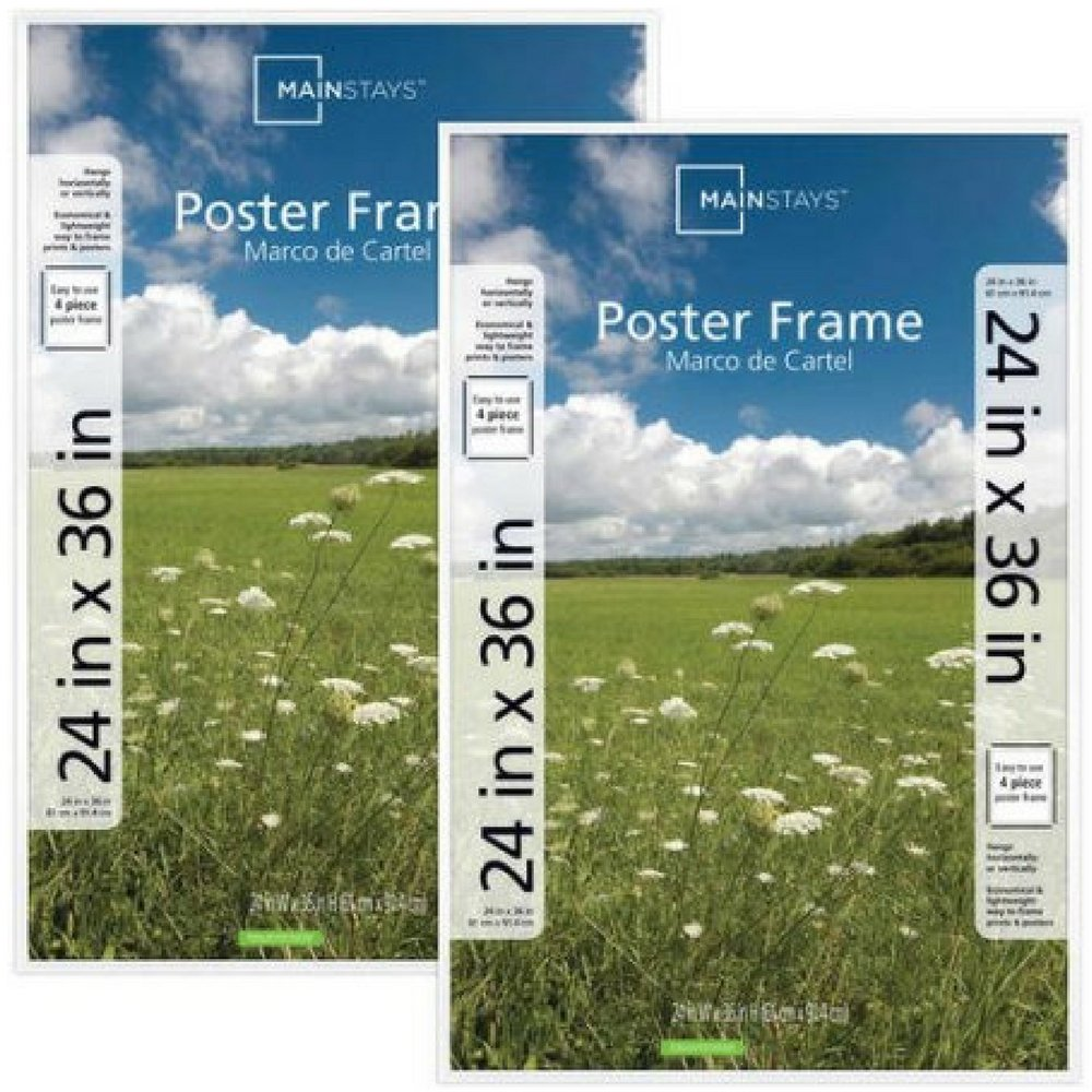 Amazon.com - Mainstays 24x36 Basic Poster & Picture Frame, Set of 2 ...