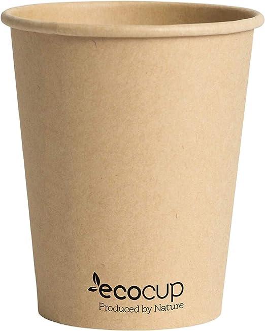 Vasos de Café Desechables, Biodegradables y Compostables- 50Uds ...