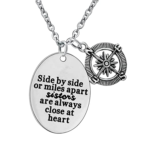 YEEQIN Best Friends Sister Necklace Friendship Gifts Stainless Steel Pendant